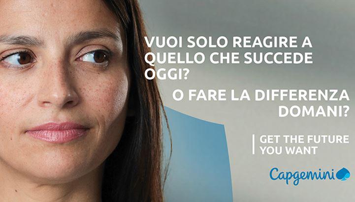 """Un soggetto della nuova campagna Capgemini """"Get the future you want"""""""