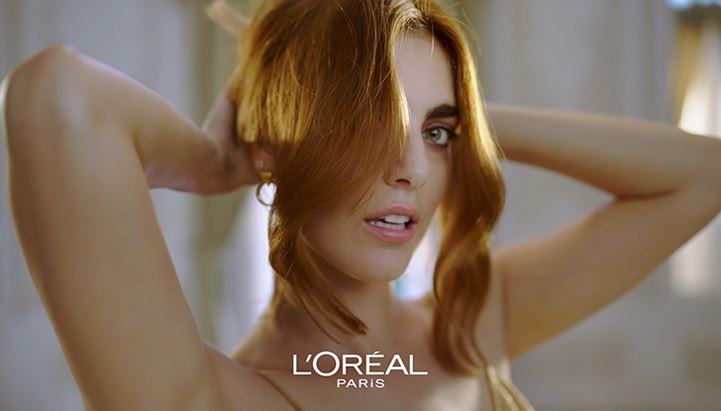Miriam Leone nella nuova campagna Elvive di L'Oréal