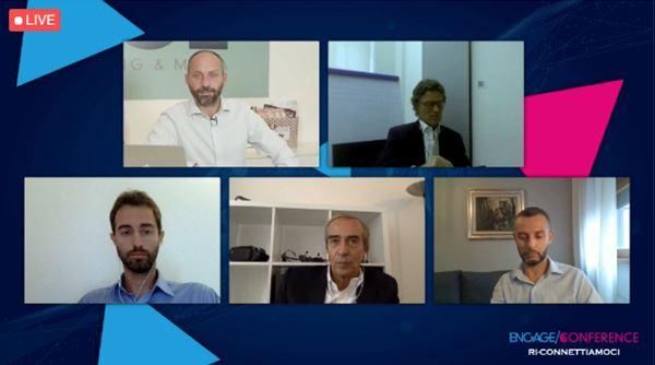 da sinistra: Simone Freddi intervista Stefano Cagnoni, Federico Fassina, Valerio Ginnasi ed Erik Rosa
