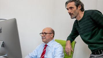 da sinistra: Antonio Fimiani e Claudio Caciagli, co-founder di AltaSartoria