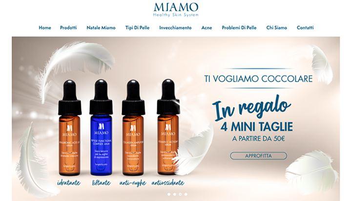 Un'immagine della home page del sito di Miamo