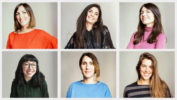 Alice Bertola, Lorenza Soddu, Valerie Zuddas. Sotto: Carla Gioia, Anna Laura Urbani, Anna Brignolo