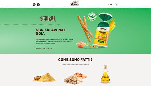 Un'immagine del nuovo sito di Morato realizzato da Asterisco Creative Agency