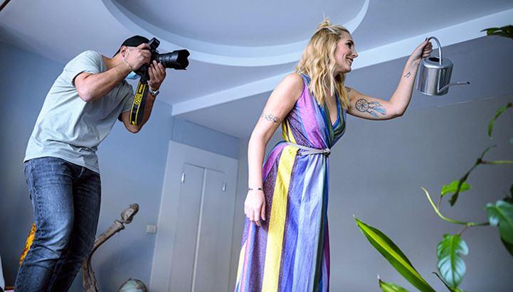 Un momento dello shooting realizzato da ALL Communication per il calendario Avon