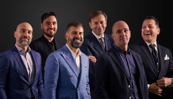 Il board di Different. Da sinistra: Lorenzo Cabras, Michele Polico, Davide Arduini, Roberto Frassinelli, Massimiliano Gusmeo, Andrea Cimenti
