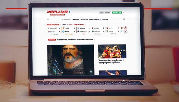 Un'immagine del nuovo Corrieredellosport.it