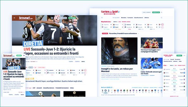 I nuovi Corrieredellospot.it e Tuttosport.com promettono un'esperienza più coinvolgente su tutti i device