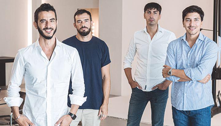 Da sinistra: Roberto Di Tivoli, Alessandro Marolda, Emanuele Menduni e Federico Coccia di EditStudio