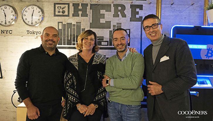 Maurizio De Palma, Eliana Gandolfi, Carlo Giovanni Conti e Lorenzo Brufani, fondatori di Cocooners.com