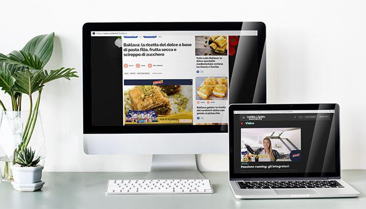 Un'immagine dei formati AtomikAD per la pubblicità di Madi Ventura