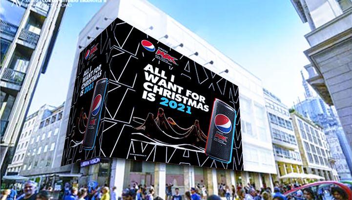 L'affissione di Pepsi Max