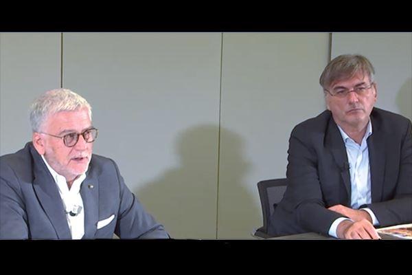 Conferenza stampa Conad: a sinistra, Francesco Pugliese, a destra Francesco Avanzini