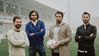 Il team di OnSports: da sinistra, Tommaso Dotta, Luca Lovelli, Matteo Sciascia e Gabriele Ferretti