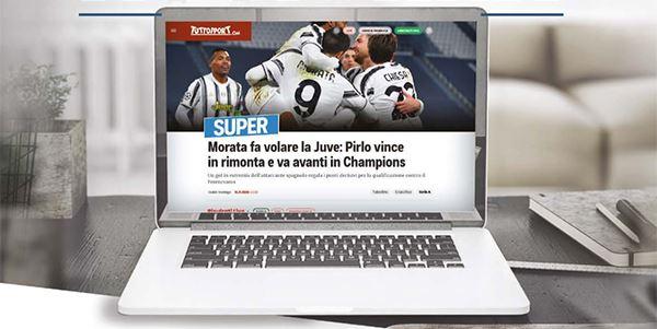 Un'immagine del nuovo Tuttosport.com