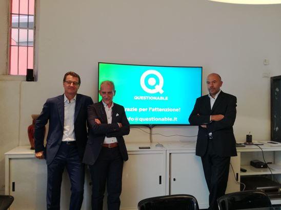 Da sinistra, Davide Panza, Mirko Lagonegro, Marco Fontana