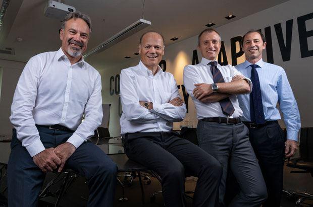 Roberto Binaghi, Massimo Beduschi, Luca Vergani e Zeno Mottura