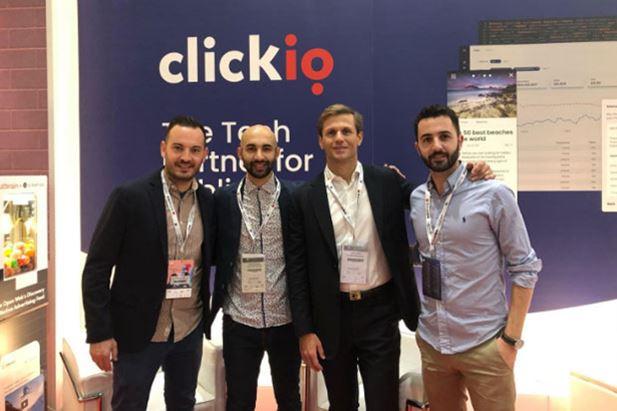 I manager di Clickio insieme all'editore di Laleggepertutti allo IAB Forum 2019