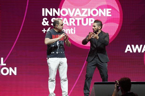 Elio e Cosmano Lombardo sul palco del Web Marketing Festival