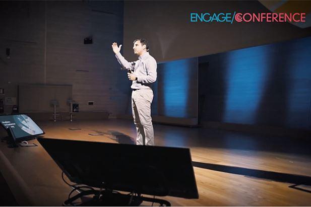Giuseppe Ripa sul palco di Engage Conference 2019
