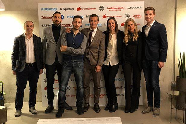 Il team di Inflooendo, con al centro Davide Raimondi e Gloria Bassi