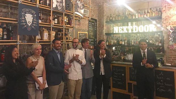Un momento della festa per il lancio di Nextdoor in Italia