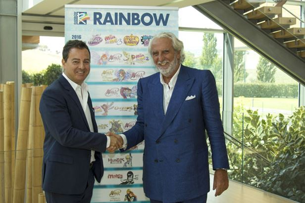 Igino Straffi e Maurizio Totti
