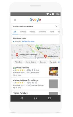 Un esempio di campagna locale su Search