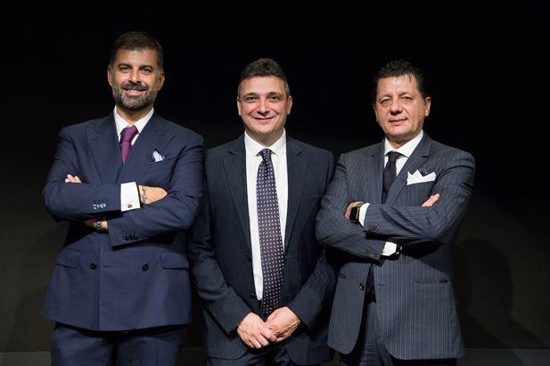 Da sinistra: Davide Arduini, Gianfranco Tomaselli e Andrea Cimenti