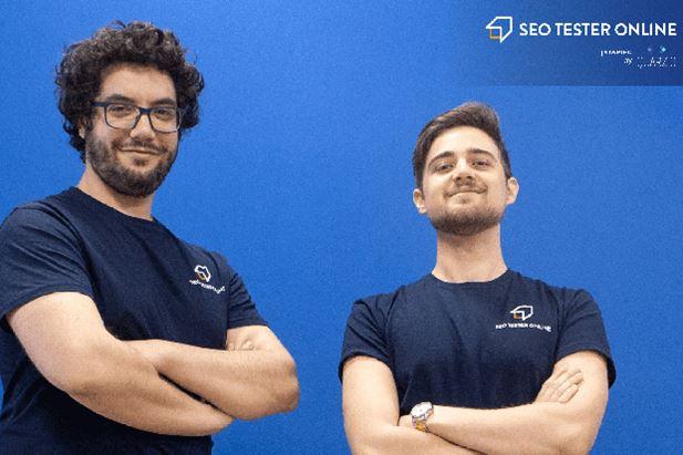 Da sinistra: Giancarlo Sciuto (CMO) e Vittorio Urzì (CEO) di Seo Tester Online