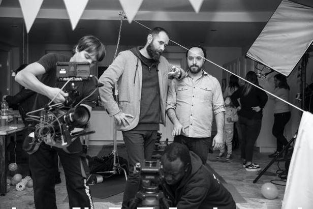 Il backstage di uno shooting nei Caffeina Studios