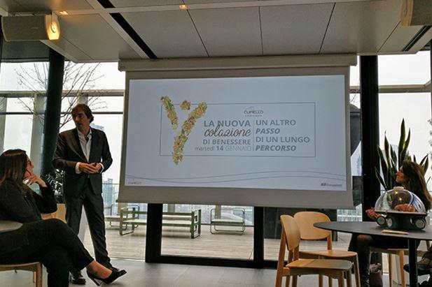 Alfio Schiatti durante la presentazione di MyBioma