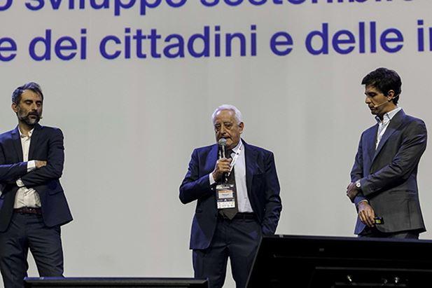Roberto Liscia sul palco di IAB Forum 2018