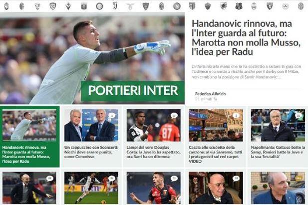 La home page di Calciomercato.com