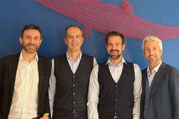 Da sinistra: Corsaro, Pedron, Guffanti, De Brabant