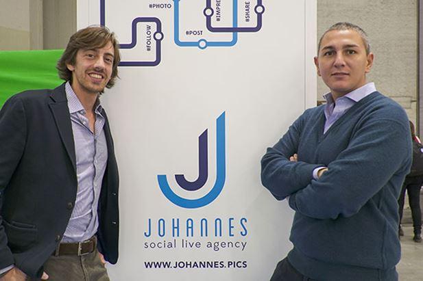 Da sinistra, i co-founder di Johannes: Daniele Lazzari e Vittorio Castelli