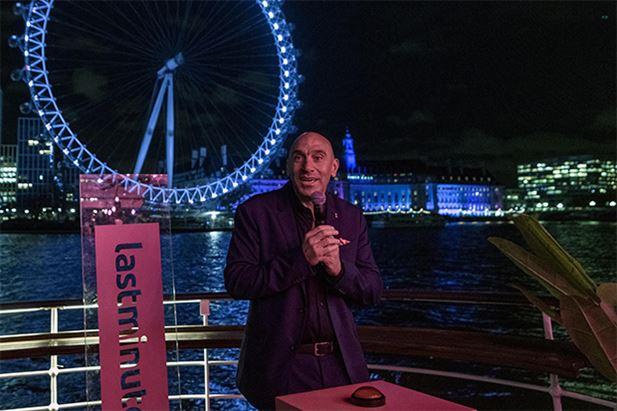 Marco Corradino inaugura la sponsorizzazione del London Eye