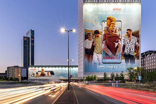 Un'immagine della campagna a Milano