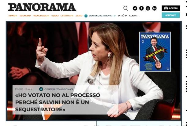 Uno screenshot della nuova home page