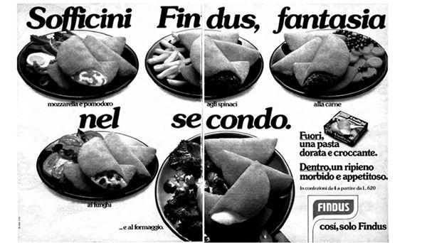 Pubblicità anni 70 dei Sofficini Findus