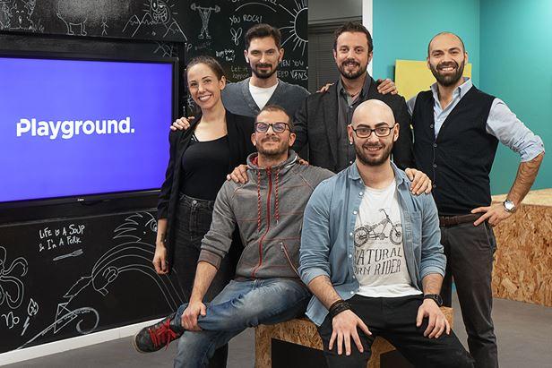 Da sinistra, in piedi: Francesca Semisa, Mirko Colombo, Gabriele Stroppa ed Elia Antonelli; seduti: Giuseppe Cicchitto e Salvatore Puleo