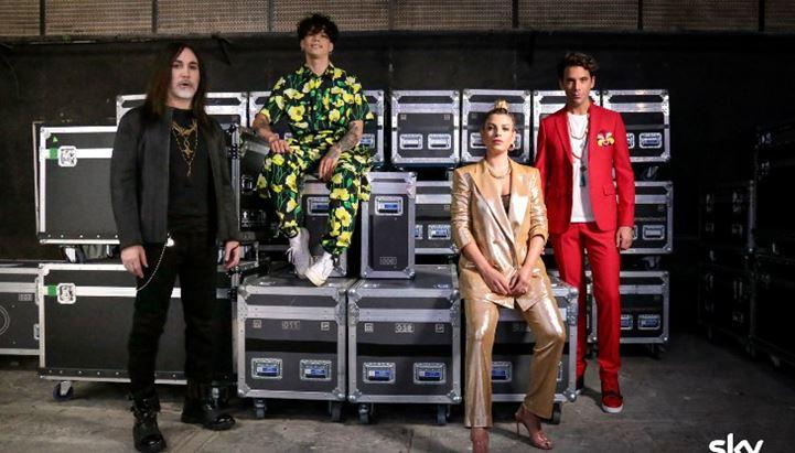 La giuria di X-Factor 2020: Manuel Agnelli, Hell Raton, Emma, Mika