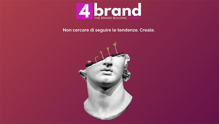 La creatività che preannuncia la nascita dell'agenzia 4brand sul sito