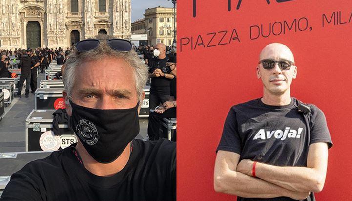Mario Viscardi e Paolo Rizzi dell'APS Bauli in Piazza