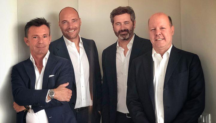 Da sinistra: Massimo Fontana, Andrea Pezzi, Carlo De Matteo e Massimiliano Frank