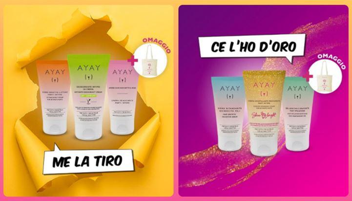 I due soggetti della nuova campagna pubblicitaria Ayay