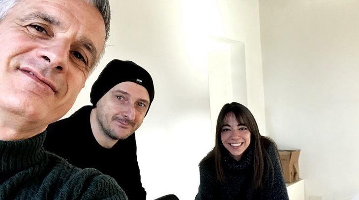 DAvide Colombo, Valerio Le Moli e Mara Bonavoglia