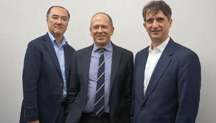 da sinistra: Hideaki Ueda, Simon Yencken e Derek Adelman di Fanplayr