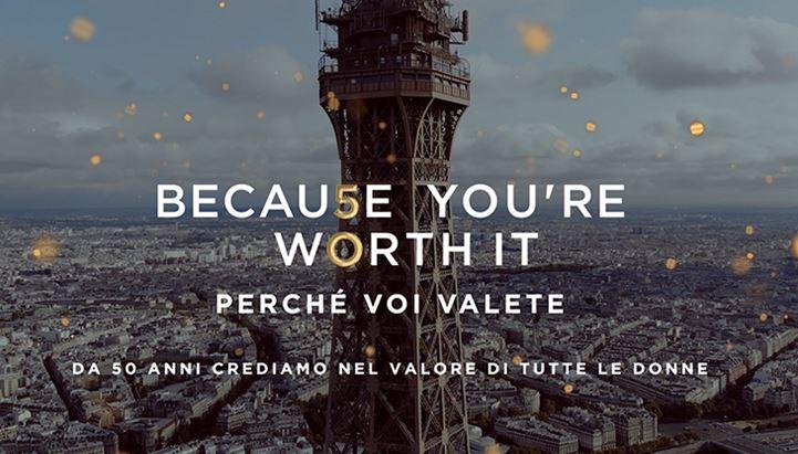 L'Oréal Paris celebra i 50 anni del claim 'Perché voi valete' con uno spot