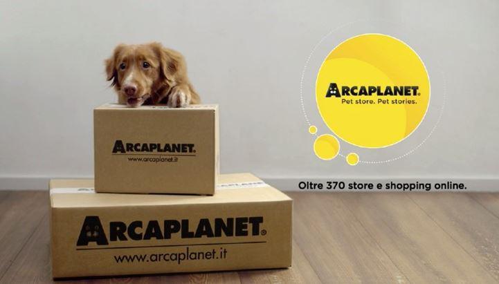 Un frame del nuovo spot Arcaplanet