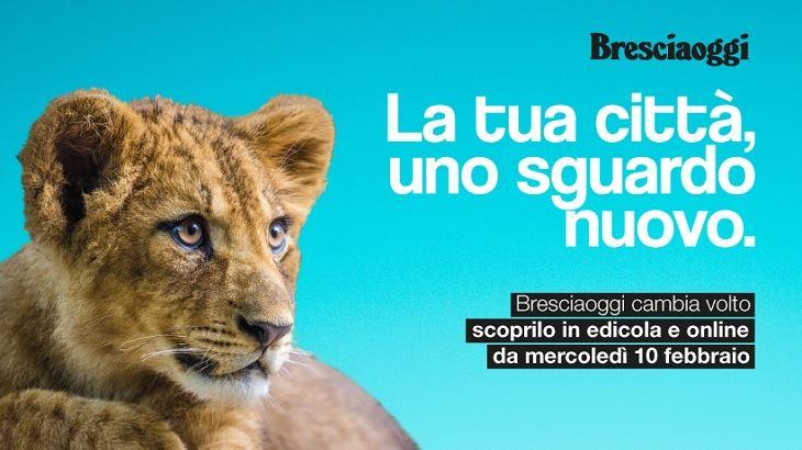 Un'immagine della campagna pubblicitaria del nuovo Bresciaoggi
